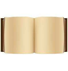 Brown open book vector