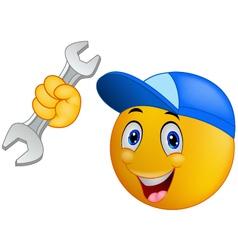 Repairman emoticon smiley vector
