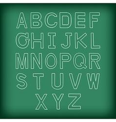 A to z uppercase alphabet handrawn vector
