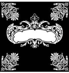 Decorative royal vintage ornate banner vector