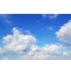 Clouds abstract background polygon vector