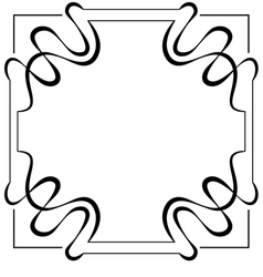 Square frame element for design vector