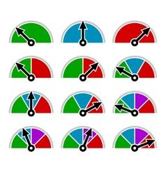 Color indicator diagram set template design vector