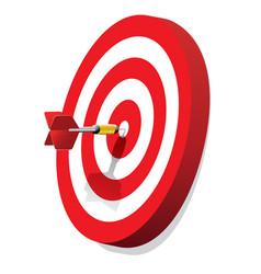 Dartboard with dart vector