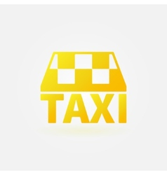 Taxi yellow icon or logo vector