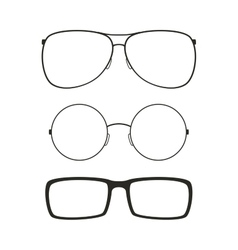Glasses isolated set vector