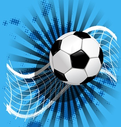 Soccer ball and net on blue vector