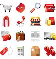 Shopping set vector