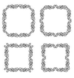 Decorative ornate frames vector