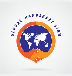 Global handshake abstract sign vector
