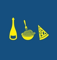 Italian food icons vector