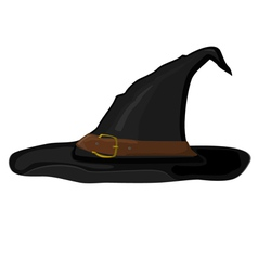 Cartoon witch hat vector