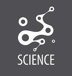 Abstract logo for science and technology vector