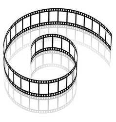 3d film strip vector
