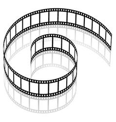 3d film strip vector