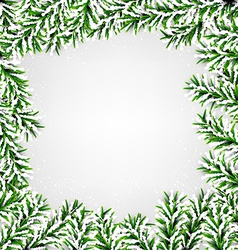 Fir christmas frame vector