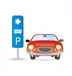 Parking icon vector