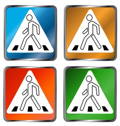 Pedestrian crossing signs vector