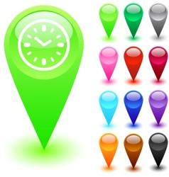 Time button vector