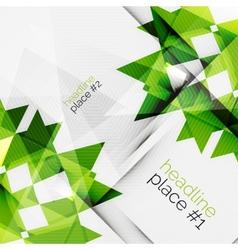 Business futuristic triangle composition vector