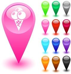 Icecream button vector