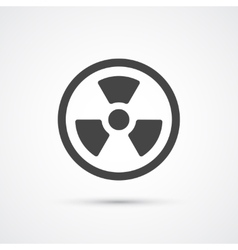 Trendy flat radiation warning icon vector