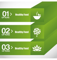 Healthy food infographics vector