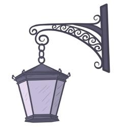 Antique lantern vector