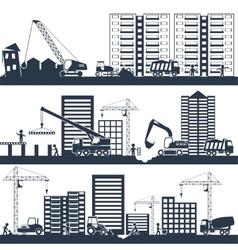 Construction composition black vector
