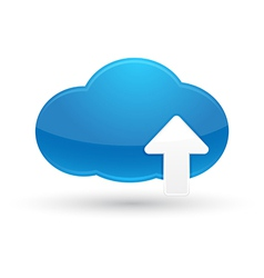 Cloud computing upload icon vector