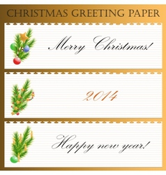 Christmas greeting paper with text vector