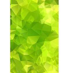 Green abstract background polygon vector