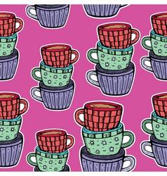Teacup pattern vector
