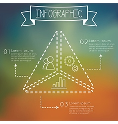 Modern infographic triangle shape vector