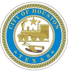 Houston city seal vector