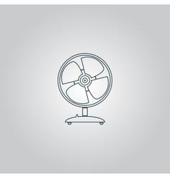 Table fan - vector