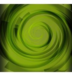 Green color spiral background vector
