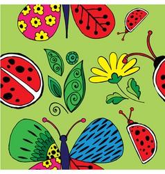 Ladybird pattern vector