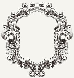 Vintage high ornate original royal frame vector