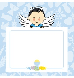 Baby boy with wings vector