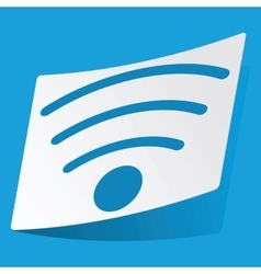 Wi-fi sticker vector