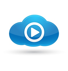 Cloud computing media icon vector