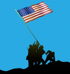 Flag raising vector