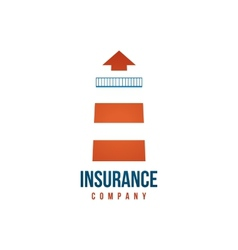 Insuramce company logo template with lighthouse vector