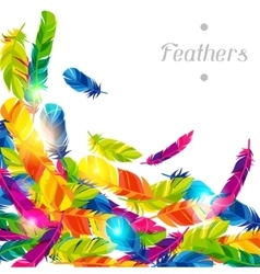 Colorful background with bright abstract vector