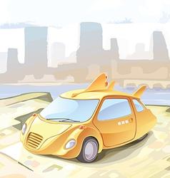 Futuristic cab vector