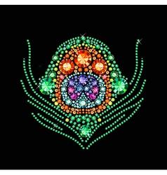 Diamond peacock feather vector