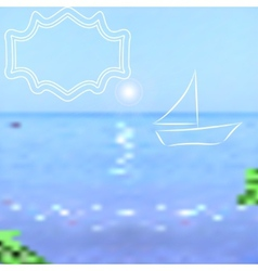 Summer background bright sea and sky with a vector