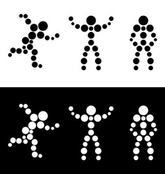Abstract sphere people vector