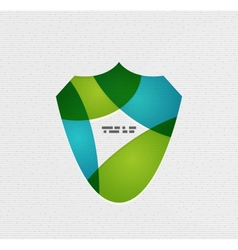 Colorful paper shield modern design vector